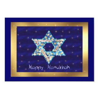 Gem decorated Star of David Invitation
