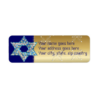Gem decorated Star of David Label