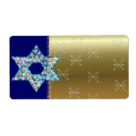 """Gem decorated Star of David Label<br><div class=""""desc"""">Gems and sparklies filling in the shape of the Star of David make this a very special gift for yourself or friends and family this Hanukkah.</div>"""