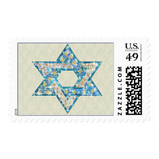 Gem decorated Star of David Postage
