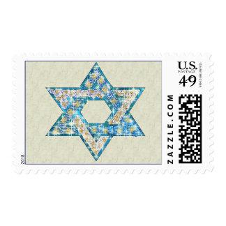 Gem decorated Star of David Postage Stamp