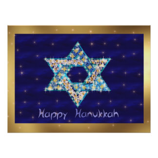 Gem decorated Star of David Posters