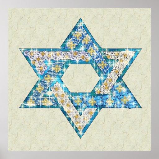 Gem decorated Star of David Print