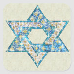 "Gem decorated Star of David Square Sticker<br><div class=""desc"">Art drawn to resemble gems and sparklies fill in the shape of the Star of David to make this a very special gift for yourself or friends and family this Hanukkah.</div>"