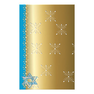 Gem decorated Star of David Stationery