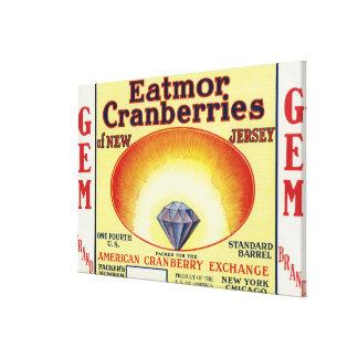 Gem Eatmor Cranberries Brand Label Gallery Wrap Canvas
