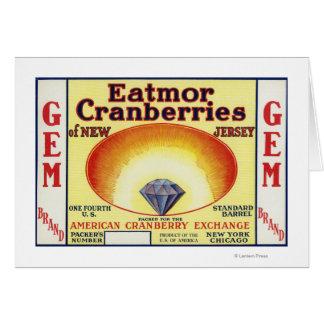 Gem Eatmor Cranberries Brand Label Card