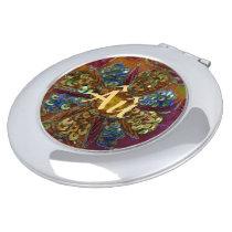 Gem Encrusted Round Compact Autism Mirror