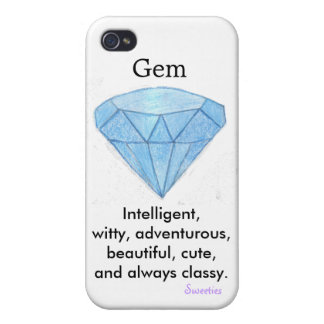 Gem iphone 4 case by Sweeties! iPhone 4/4S Covers