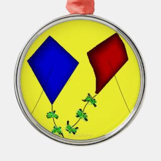 Gem Kites Metal Ornament