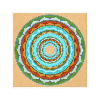 Gem mandala canvas print