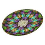 Gem Mandala Golden Aum Spiritual Art Plate