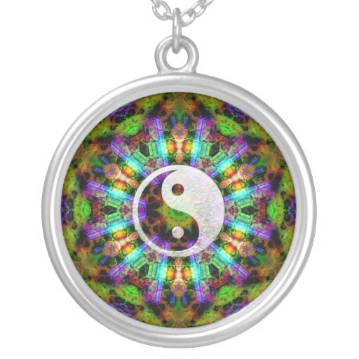 Gem Mandala YinYang Necklace