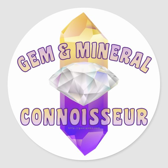 Gem & Mineral Connoisseur Classic Round Sticker