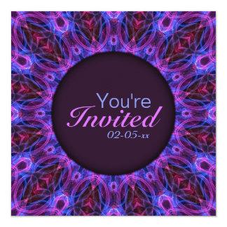 Gem Rings Mandala 5.25x5.25 Square Paper Invitation Card