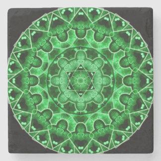 Gem Star Mandala Stone Coaster