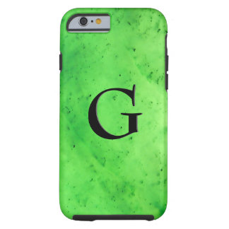 Gem Stone Pattern, Lime Green Jade & Black Onyx Tough iPhone 6 Case