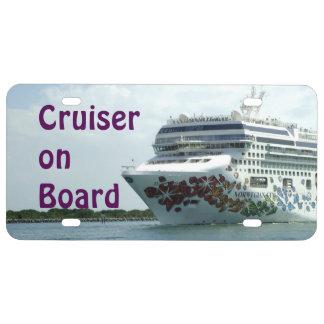 Gem Studded Bow Cruiser on Board License Plate