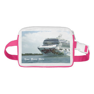 Gem Studded Bow Personalized Waist Bag