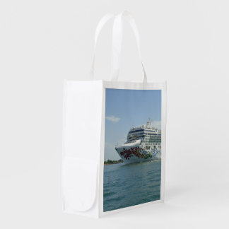 Gem Studded Bow Two Sides Reusable Grocery Bag