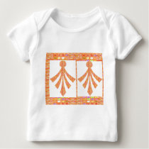 Gem studded Golden Jewel Patterns  v2 Baby T-Shirt