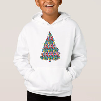 GEM studded XMAS Tree :  Merry Christmas Hoodie