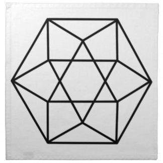 Gema 4 del hexágono servilleta de papel