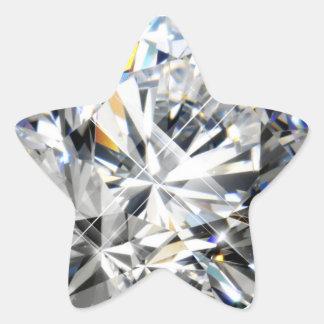 Gema blanca calcomania forma de estrella