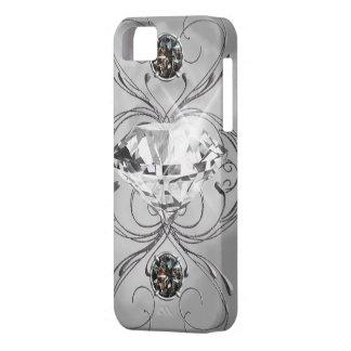 Gema blanco y negro iPhone 5 Case-Mate coberturas