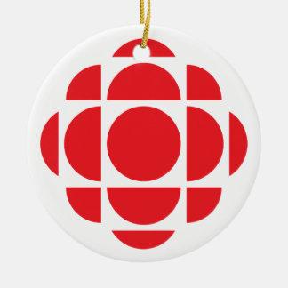 Gema de CBC/Radio-Canada Adorno Navideño Redondo De Cerámica