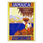 Gema de Jamaica del poster del viaje del vintage d Tarjeta De Felicitación