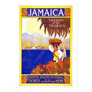Gema de Jamaica del poster del viaje del vintage d Postal
