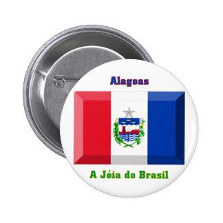 Gema de la bandera de Alagoas Pin Redondo 5 Cm