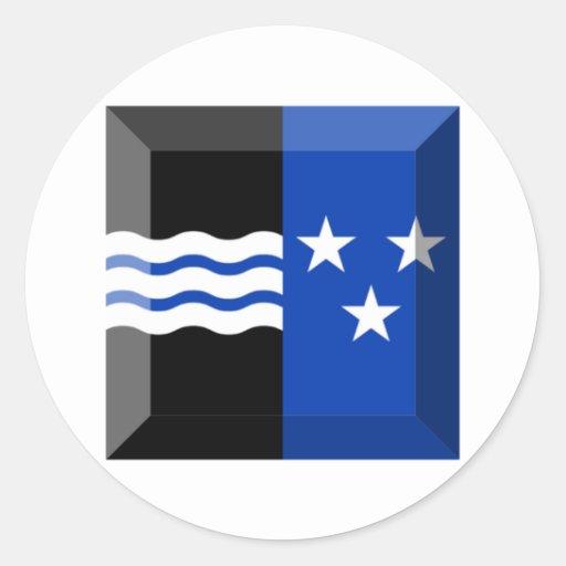 Gema de la bandera de Argovia Pegatina Redonda
