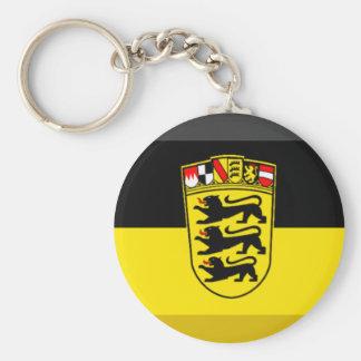 Gema de la bandera de Baden-wurttemberg Llavero Redondo Tipo Pin