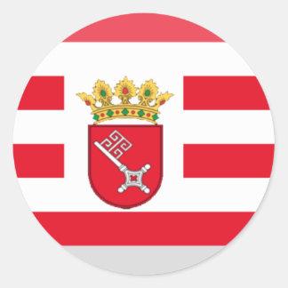 Gema de la bandera de Bremen Pegatinas Redondas