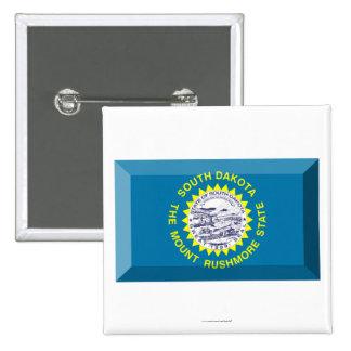 Gema de la bandera de Dakota del Sur Pin