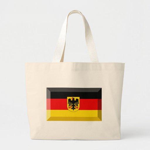 Gema de la bandera de Deutschland Bolsa Tela Grande