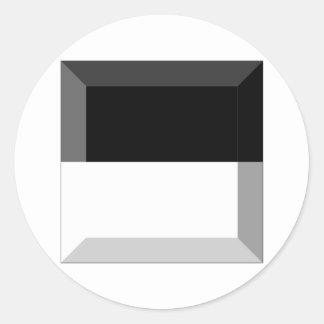 Gema de la bandera de Fribourg Pegatina Redonda