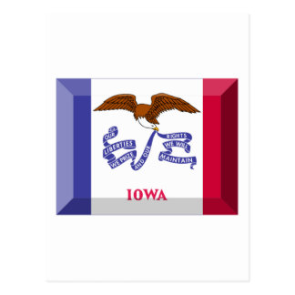 Gema de la bandera de Iowa Postal