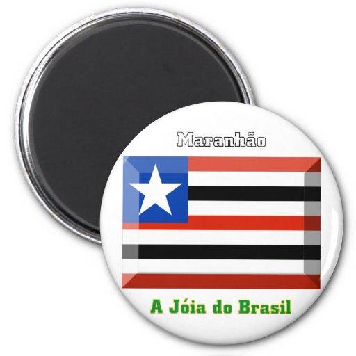 Gema de la bandera de Maranhão Imanes