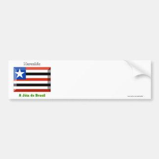 Gema de la bandera de Maranhão Pegatina Para Auto