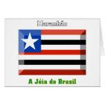Gema de la bandera de Maranhão Tarjeta De Felicitación