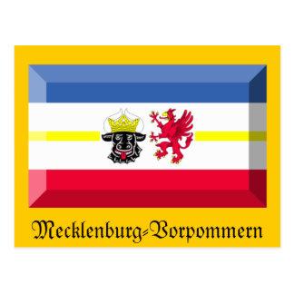 Gema de la bandera de Mecklemburgo-Pomerania Tarjeta Postal