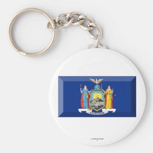 Gema de la bandera de Nueva York Llavero