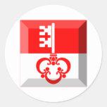 Gema de la bandera de Obwalden Pegatina Redonda