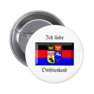 Gema de la bandera de Ostfriesland Pin