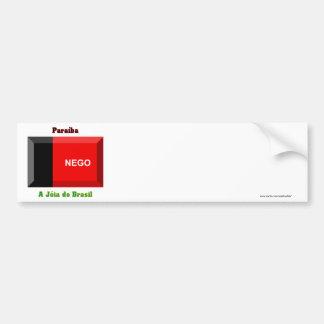Gema de la bandera de Paraíba Pegatina Para Auto