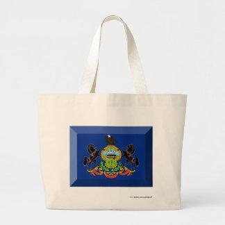Gema de la bandera de Pennsylvania Bolsa De Mano