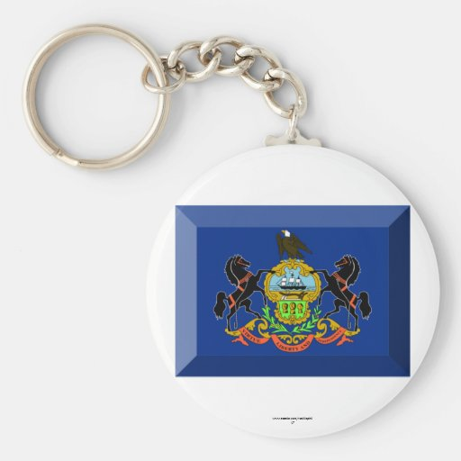 Gema de la bandera de Pennsylvania Llaveros Personalizados